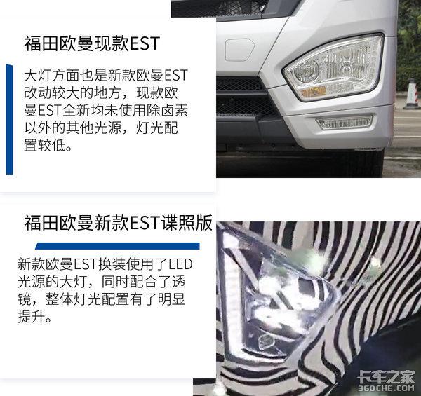 外观霸气带LED大灯福田欧曼新、旧EST大对比看它到底新在哪?