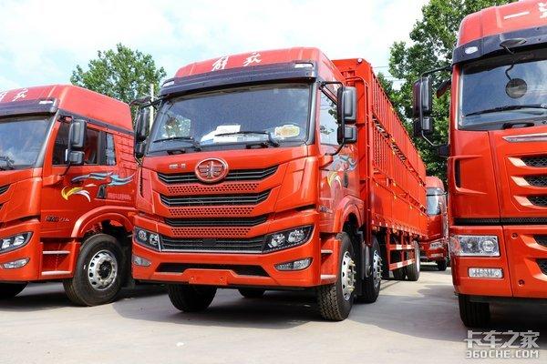 车市速看:260马力解放动力上身悍V2.0驾驶室加持的8米6载货车