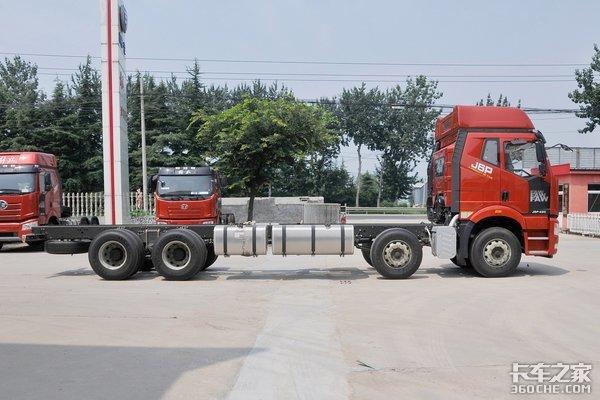 �市速看:420匹+1000L油箱8×4解放J6P