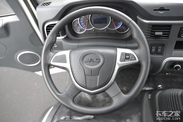 车市速看:130匹云内动力+4.875速比桥骏铃V64.15米厢车