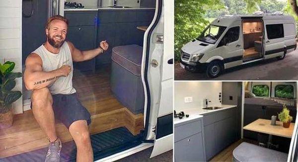 疫情期间在家没事做?国外小伙将货车改装成豪华露营车