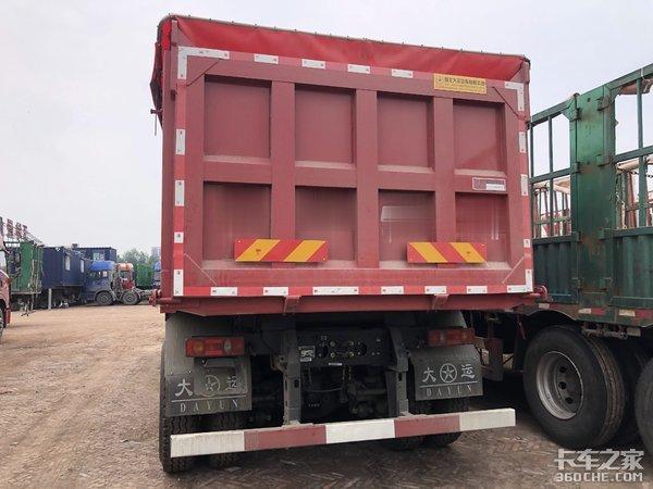城市建筑垃圾运输专用,售价低回本快,实拍大运F7短轴距渣土车