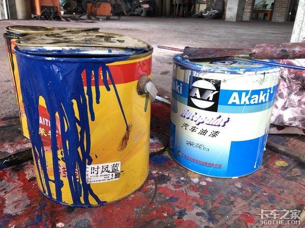 实拍货车上装涂装全过程,揭秘不同漆面到底有啥区别