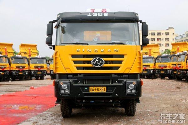 搭载科索动力+依维柯车桥这款上汽红岩渣土自卸车为广州定制