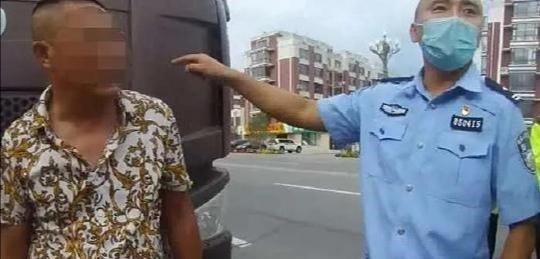大货车闯禁行躲避电子眼拍摄伪造变造机动车号牌被识破