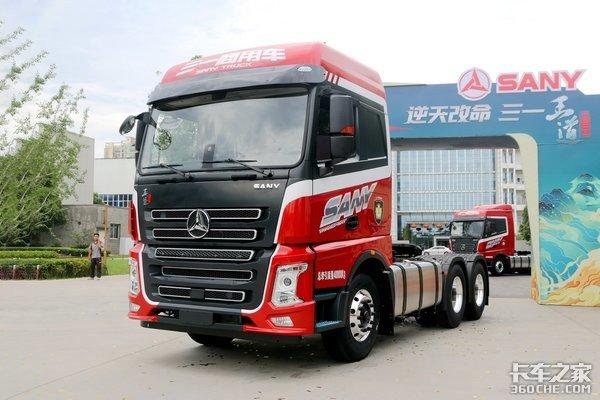 法士特变速箱+依茨D12发动机售价27.8万王道435马力6X4牵引车图解