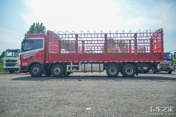 车市速看:福康430配黄金传动组三一8×4载货车银松板来了!