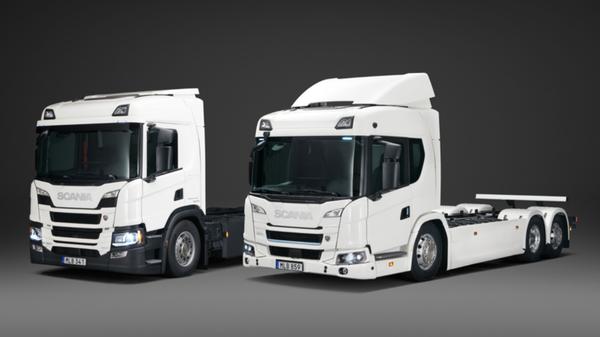 300kWh电池续航250公里斯堪尼亚电动卡车来了