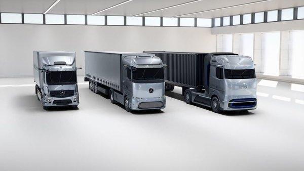 2025年投产纯电500公里续航奔驰推出燃料电池卡车