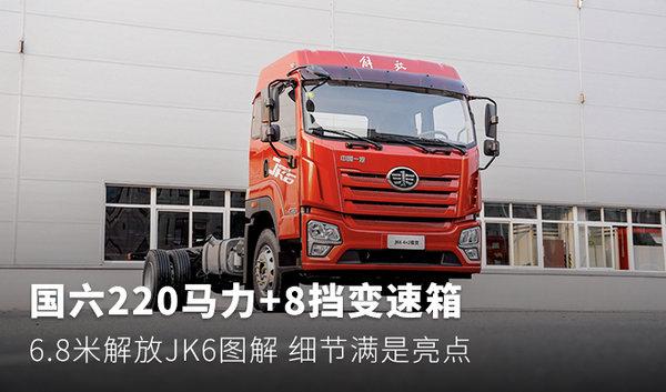 220马力带8挡变速箱6.8米解放JK6图解
