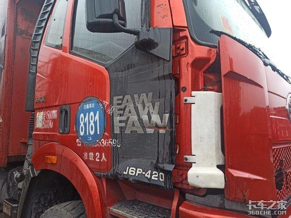 刚跑2年的二手解放J6P自卸车,这种车况散户最好别买,太操心