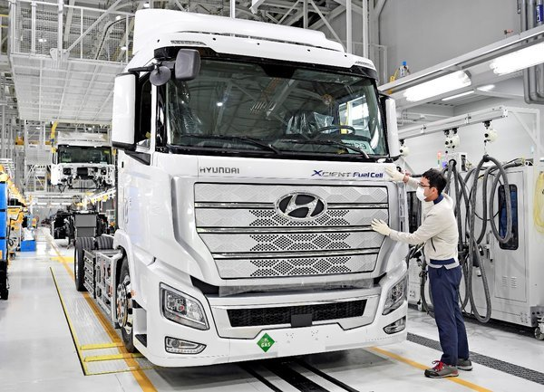 重磅!现代或于2023年直接在中国工厂生产氢燃料卡车