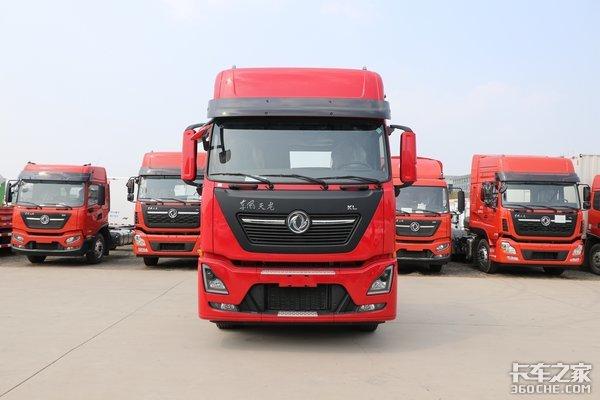 国六465马力自重7.35吨详解专拉快递的4X2天龙KL