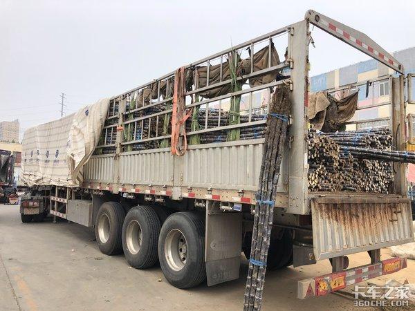 8.5吨重卡+4.8吨铝合金挂车拉货怎么样?司机:不适合散户