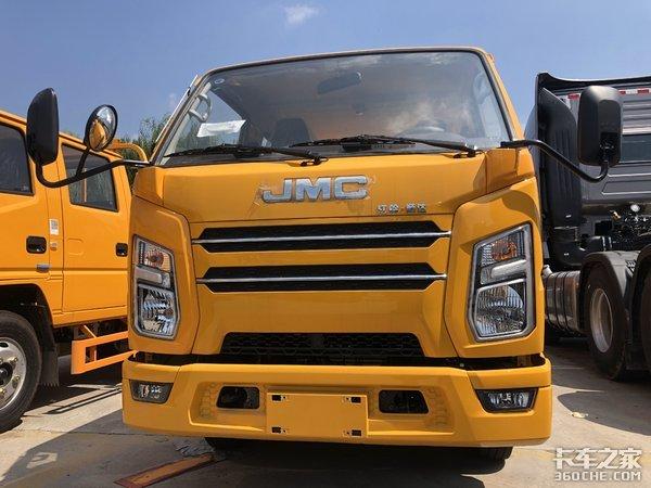 拉货多承载强,工程作业专属车型,实拍江铃新顺达轻卡