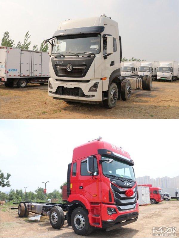 9.6米6X2载货车冷链运输,东风天龙KL和江淮K5你选谁?