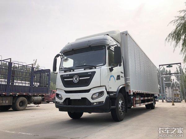 66方货厢快递运输利器,详解东风天锦KR9米8大单桥载货车