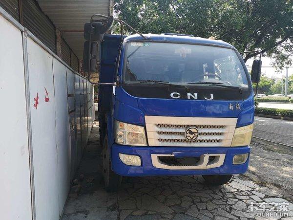 在广州开蓝牌小自卸车怎么样?司机:挣点钱太难了