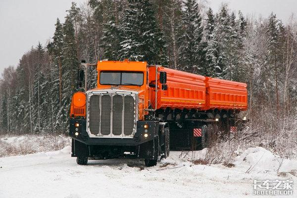 带你看看俄罗斯毛熊卡车,虽然用了中国零件,苏联风格却依然不减