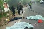 现场太惨了!9死4伤 河南信阳一货车与送葬人群相撞