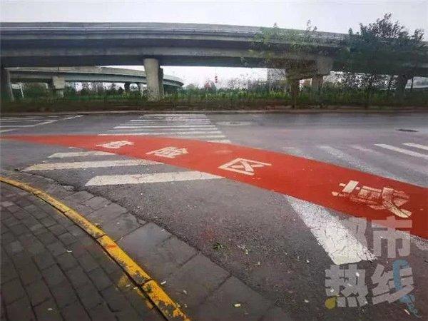 点赞!西安部分路口有了货车盲区警示带望全国普及