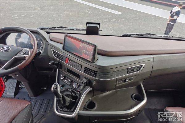 车市速看:国六430马力总速比2.6的红岩全新H6快递车