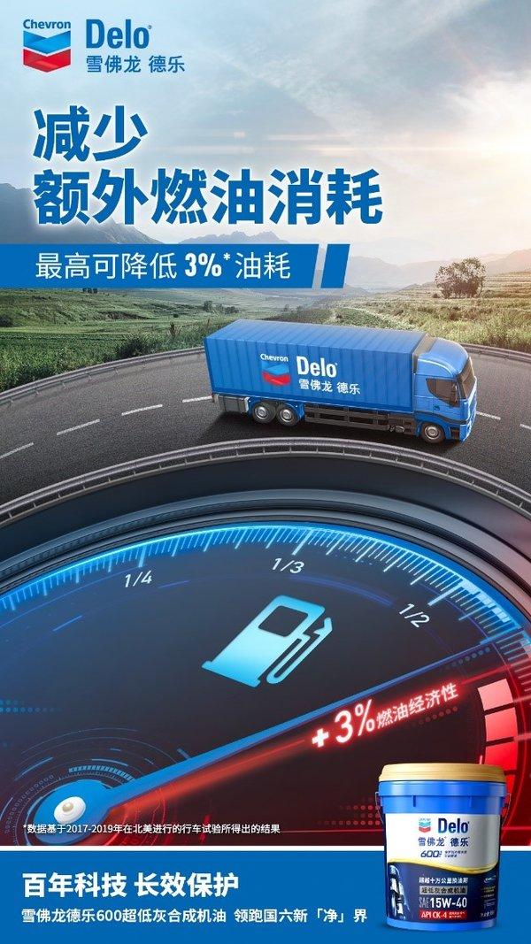 """雪佛龙德乐600超低灰合成机油全新上市迈进""""国六""""时代"""