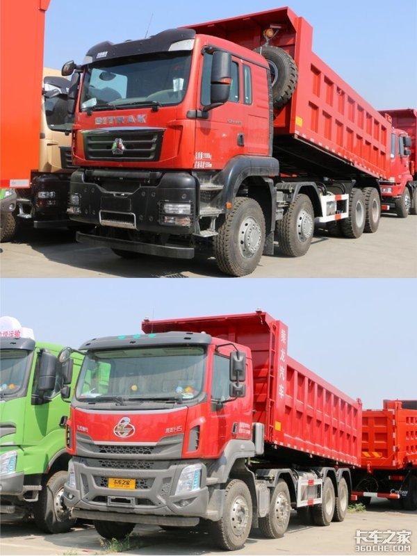 重汽汕德卡G7H和柳汽乘龙H5,两款8X4自卸车你选谁?