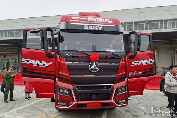 全面升级加持AMT三一再出新车还是大马力三轴牵引车