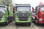 搭载玉柴350马力 轩德X6 8x4自卸车实拍 配6.5米货厢