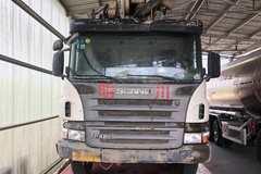 国三斯堪尼亚泵车没报废 还能继续工作