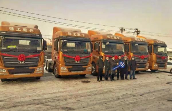 天寒地冻汉风暖!新疆老客户再次回购汉风G7超轻版牵引车!