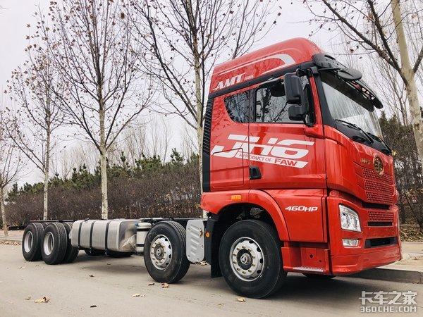 8x4载货车配AMT这辆JH6驾乘体验真爽
