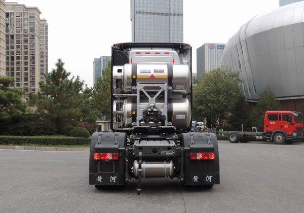 5000mm轴距480马力+气囊后桥后置双气瓶的黄河新LNG车型曝光