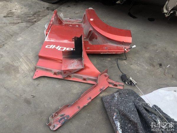 解放JH6事故维修记录从订配件到修完不到3天保有量大就是方便