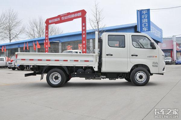 整车仅2.5吨车高低于2米福田瑞沃小金刚蓝牌自卸合规又灵活