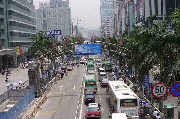 """深圳将在华强北设立""""货车限时通行区"""""""