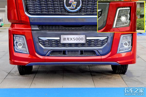 550马力纯正国六黄金动力年轻化外观内饰有质感图解陕汽X5000牵引