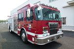 价值400万元消防车抵沈 最高供水300米