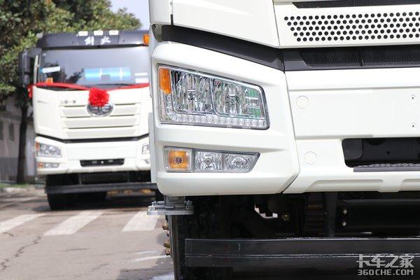 全新解放J6P搅拌车与中集凌宇共同开发强强联合更可靠!