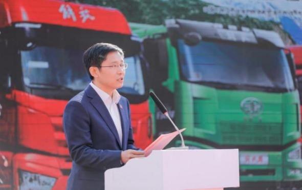一汽解放80辆车交付八宿县助力西藏发展振兴