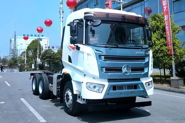 三一首款三轴载货车竟然长这样!它将会搭载国六玉柴动力