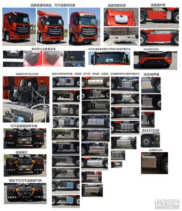 多达20款发动机可选重汽NX牵引车亮相工信部