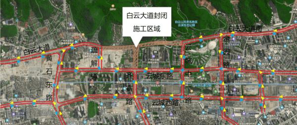 广州:5月21日起白云大道及云城东路部分路段临时围蔽施工