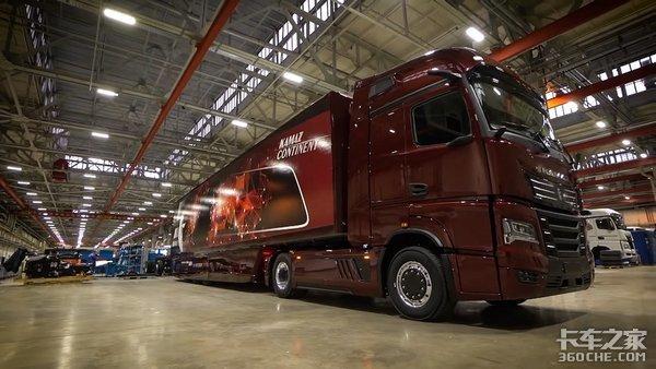 搭载混合动力链卡玛斯54907概念卡车定义未来干线运输发展