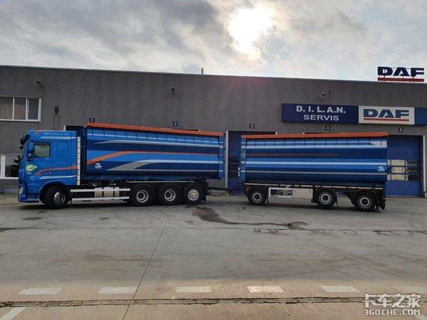 图解达夫XF系列8x4载货车一款值得国产企业学习借鉴的车型