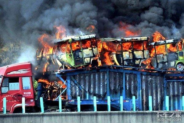 货车着火事故频发卡友夏季行车要留心