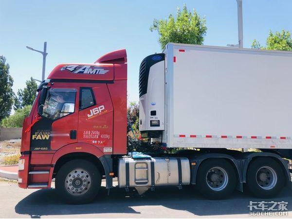 前五月冷藏车市场解放J6P领航版居前列