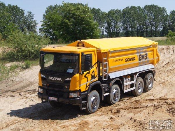 斯堪尼亚XT8x8自卸车专为矿山运输而生