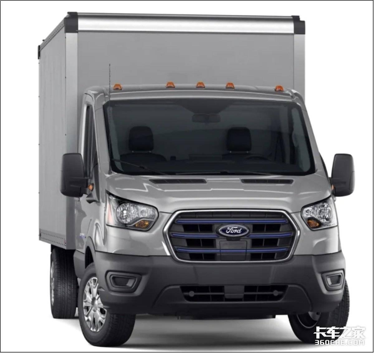 为物流加电!福特全顺纯电动E-Transit美国厢货也有新能源